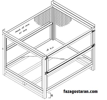 باکس پالت فلزی دیواره دار